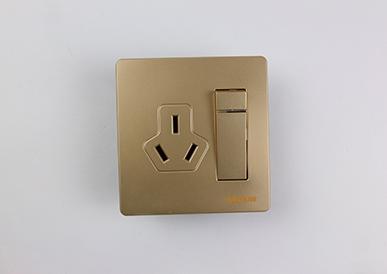 三极插座带一位双控开关