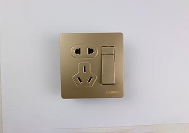 一位双控开关带二、三极插座